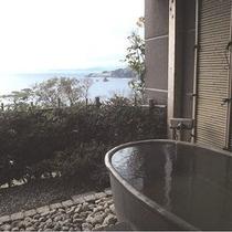 寒ノ椿のお部屋のプライベート露天風呂