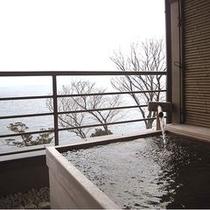 春蘭のお部屋のプライベート露天風呂