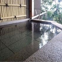蛍火のお部屋のプライベート露天風呂