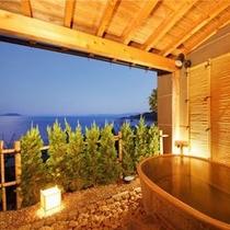 日本海一望 客室露天風呂