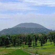 伊豆のシンボル・大室山を望む絶好のロケーション