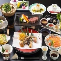 上州地のもん・料理長おススメ会席の献立一例(※松茸は11月まで)