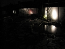 【夜の露天風呂】
