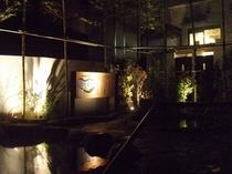 夜の露天風呂2