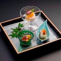 季節の前菜盛り合わせ (初夏の会席コース 2014)