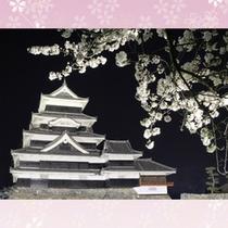 松本城_桜