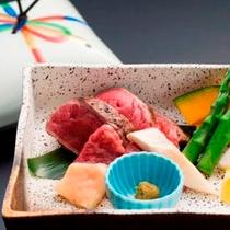 桜肉の陶板焼き (初夏の会席コース 2014)