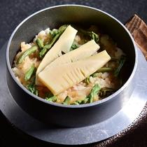 筍山菜釜飯