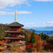 紅葉がきれいな秋の成相寺