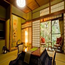 【別館 山家荘】風情ある日本庭園を眺めながら