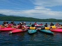 木崎湖でのカヌー、カヤック