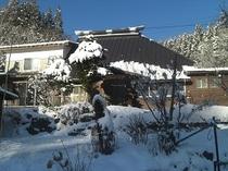 一の倉荘の冬景色