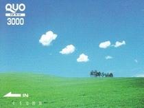 3,000円QUOカード