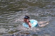 四万十川で泳いだよー♪