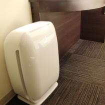 全室、加湿機能付き空気清浄機完備!