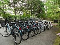 無料貸し自転車10台(貸し出しは先着順です)