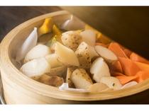 【和洋バイキング朝食】ほくほく蒸し野菜