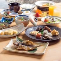 朝食は和風ブッフェです