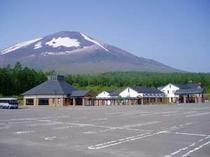 岩手山と温泉館