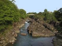 吊り橋からの厳美渓