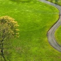 お部屋からはゴルフ場が一望できます
