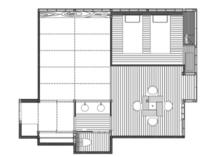 【泉游亭・きり平面図】和室+和ベッドルーム+広縁。52平米<禁煙>
