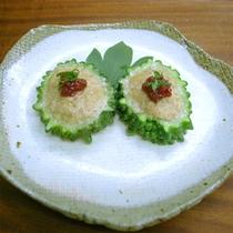 *ゴーヤの肉詰め(料理一例)