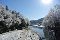 秋川渓谷(冬雪)
