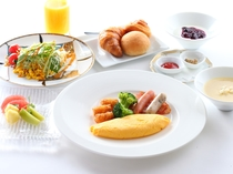 朝食セットプレート洋
