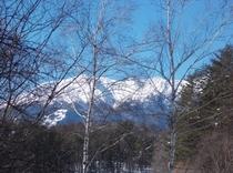 新棟からの御嶽山の眺望