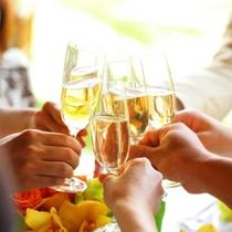シャンパンで乾杯っ♪
