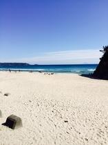 徒歩3分の吉佐美大浜ビーチ