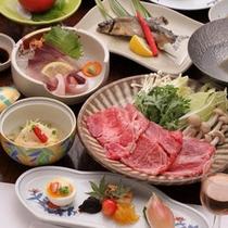 【ご夕食例】しゃぶしゃぶは、柔らかい豊後牛の旨みを存分に味わえます