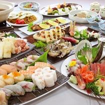 ■郷土料理「賑わい」(3名様盛り一例)