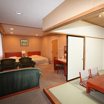 ☆禁煙バス・トイレ付和洋室(6畳+2ベッド)