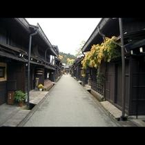 秋の古い町並み