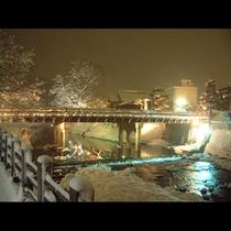 冬の中橋(夜景)