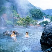 姉妹館『山のホテル』露天風呂