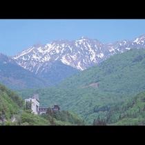 夏の北アルプスと山のホテル