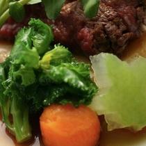 色鮮やかな野菜とお肉