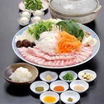 豚しゃぶ薬味和風鍋(一例)