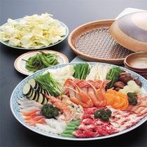 色彩蒸し鍋(一例)