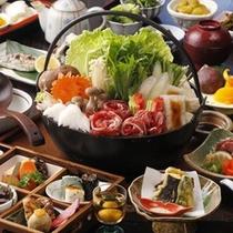 【囲炉裏料理・冬の鍋】