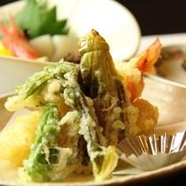 夕食 天ぷら