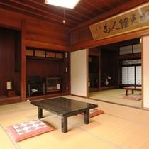 島崎藤村が実際に使ったお部屋です