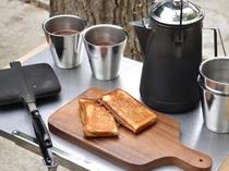 キャンプ専用ホットサンド朝食バスケット