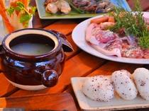 【里山冬BBQ】冬BBQは野菜たっぷりスープでほかほか