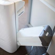 加湿器付空気清浄器(衛生面の為、水を抜いております)