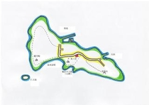 桂島の地図