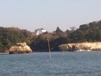船上から見た鬼ヶ浜